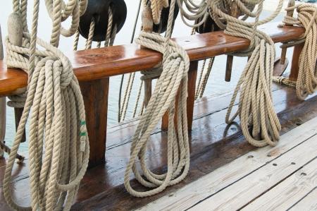Rigging eines alten Segelschiffes Standard-Bild - 13856386