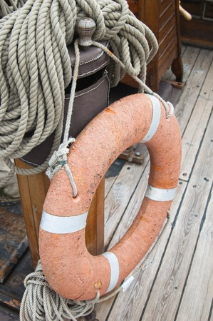 Rigging of an ancient sailing vessel Stock Photo - 13942811