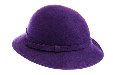 womens hat isolated on white background