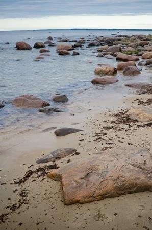 Stones on coast of Baltic sea Stock Photo