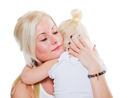 Mum calms a small daughter Stock Photo - 17974613