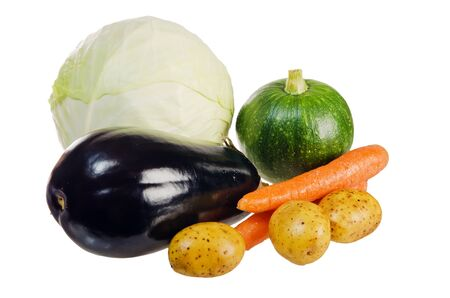 Fresh vegetables  isolated on white photo