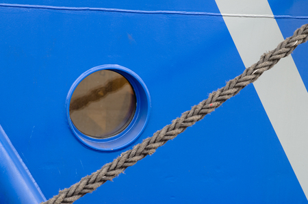 A window of the ship, a close up photo
