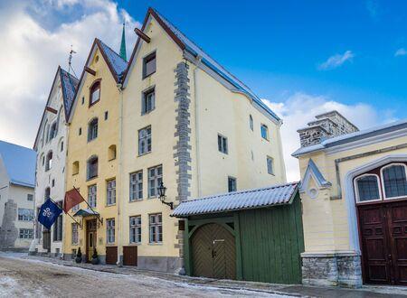 three sisters: TALLINN, ESTONIA - JANUARY 20, 2013: Ancient building Three Sisters in Tallinn, Estonia