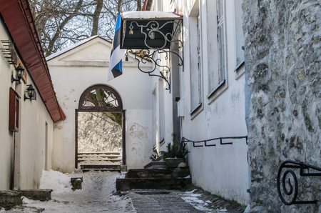 tallinn: Danish Kings Garden in Tallinn, winter view