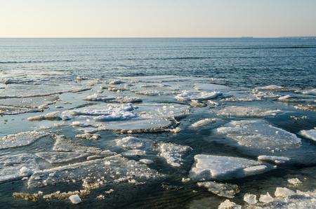 melting ice: Melting ice floe at the sea