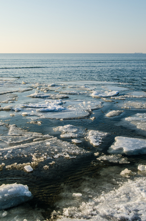 ice floe: Melting ice floe at the sea