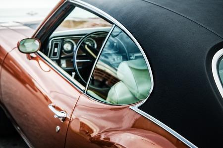 car show: Retro car, close up