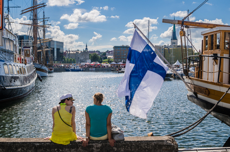 People rest on Sea Days in Tallinn