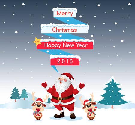nosed: Santa & Reindeer Merry Christmas