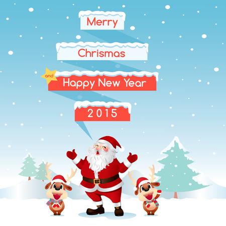 nosed: Santa & Reindeer Merry Christmas Night