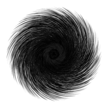 Abstract unusual strange shape. Dark abstract twirl element isolated on white background. Illustration