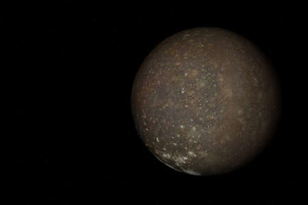 3d rendering of  Callisto, one of the moon of Jupiter.