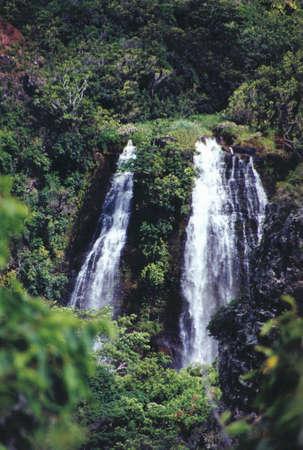 Waterfall In Opaekaa Hawaii
