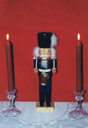 nut cracker: Nut Cracker and Candles Stock Photo