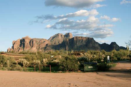 Superstition Mountain Arizona Banco de Imagens