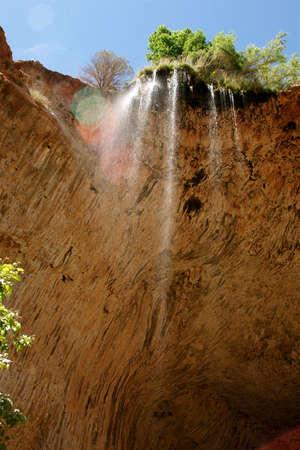 Natural Bridge Waterfall Stock fotó
