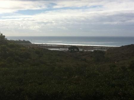 Cloudy day at San Diego Cardiff beach Stock fotó