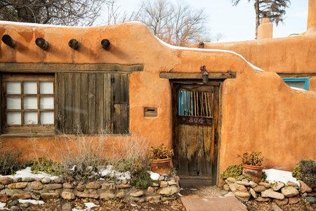 An entryway in Santa Fe, New Mexico Editorial