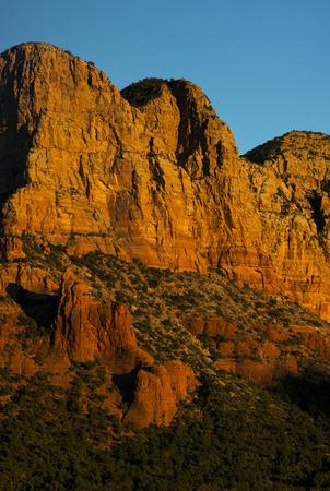 Late afternoon image of sandstone rock formations near Sedona, Arizona