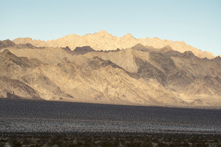 Pinto Mountains at Joshua Tree National Park in the Mojave Desert
