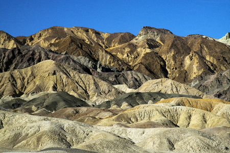 20 Mule Team Canyon in Death Valley National Park, California, Stock Photo