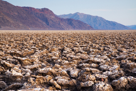 Devils Golf Course at Badwater Basin in Death Valley National Park, California, Stock Photo