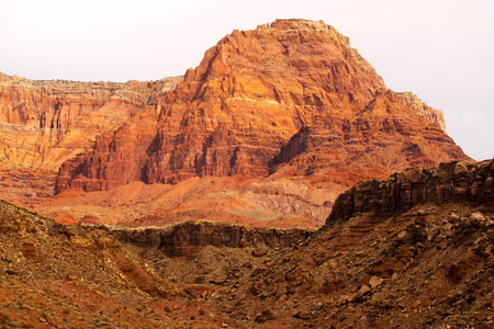 A view of the Vermillion Cliffs near Lees Ferry in Arizona Stock Photo