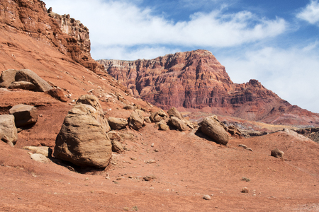 A view of the Vermillion Cliffs near Lee's Ferry in Arizona Stock Photo - 103111422