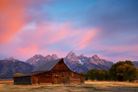 One of the Moulton Barns on Mormon Row at Grand Teton National Park.