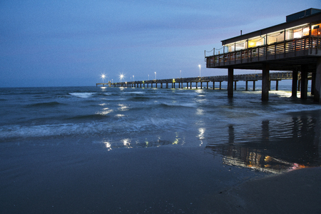 Bob Hall Pier on Padre Island near Corpus Christi, Texas
