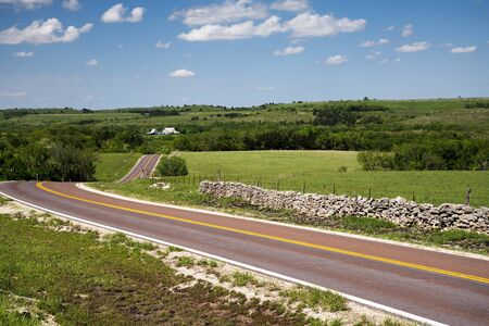 Native Stone Scenic Byway in the Flint Hills of Kansas