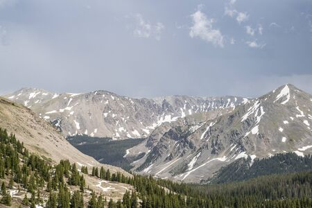 View from Independence Pass in the Colorado Rocky Mountains.