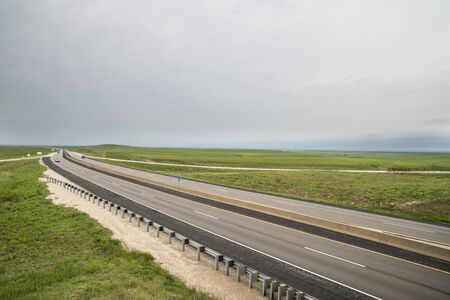 Cloudy day on the Kansas turnpike.