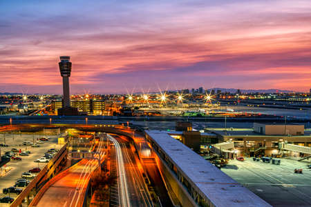 Sunset as viewed from Phoenix Sky Harbor Internastional Airport