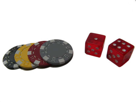 Poker Chips and Dice Stock Photo - 654929