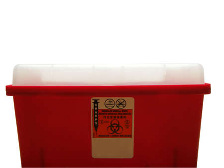 Photo of a sharps disposal container photo