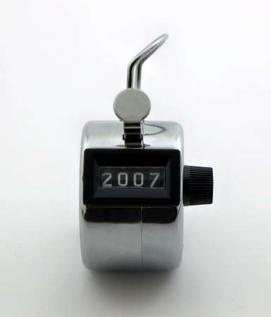 enumeration: Photo of clickertally counter with the number 2007 on it