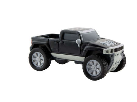 Photo of a model truck isolated on white Stock Photo