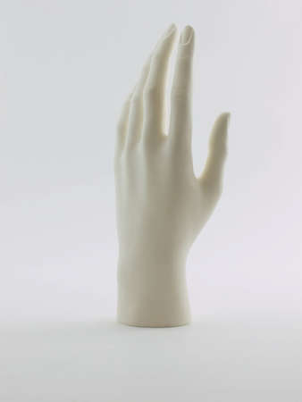 Photo of a mannequin hand shot on a white background Zdjęcie Seryjne