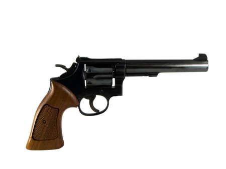 magnum: Photo d'un pistolet isol� sur blanc
