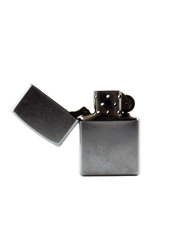 butane: Photo of a lighter isolated on white