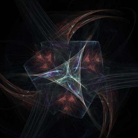 Fractal design on black