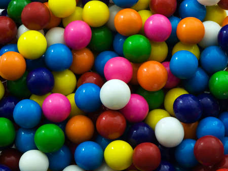 Multi-colored gum ball background or texture Stock Photo
