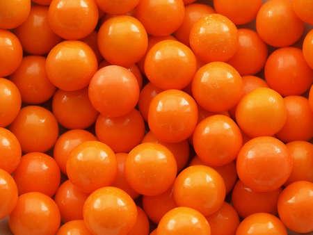 Orange gum ball background or texture