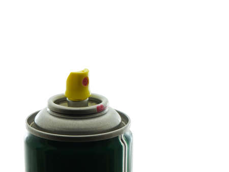 Spray can nozzle isolated on white