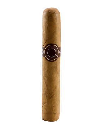 Photo of a cigar isolated on white