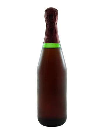 Foto van een wijnfles geïsoleerd op wit Stockfoto - 915133