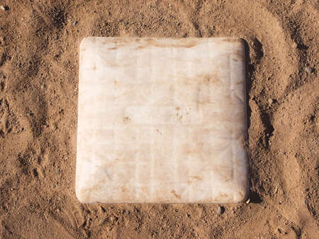First base on a baseball field Stock Photo
