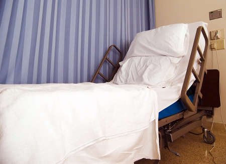 empty: Empty hospital bed Stock Photo